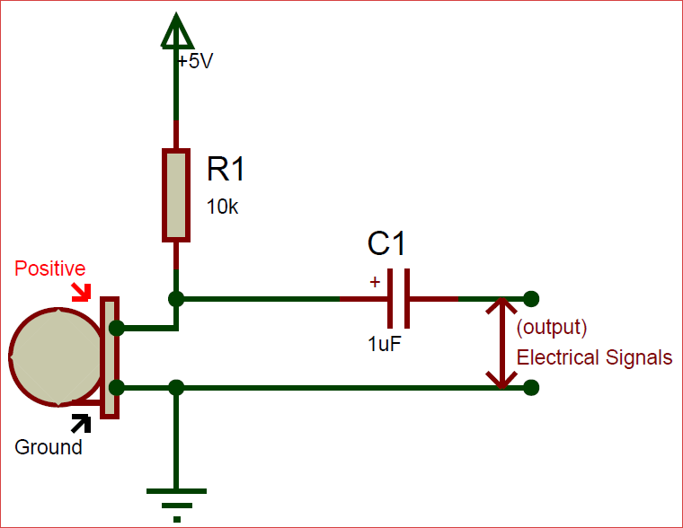 condenser mic circuit diagram