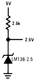 Circuit using LM336 Reference Voltage Diode