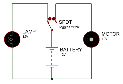 spdt toggle switch pinout, connections, how to use it & datasheet spdt switch wiring diagram 3 pin toggle switch connection components101