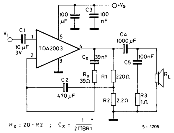 tda2003 10w audio amplifier pinout  datasheet  features  u0026 equivalents