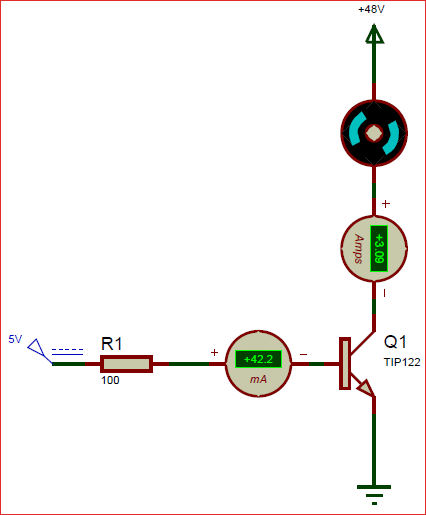 Circuit using TIP122 Darlington NPN Transistor