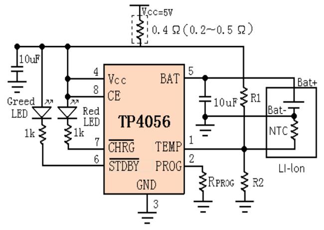 tp4056a li discharging module pinout