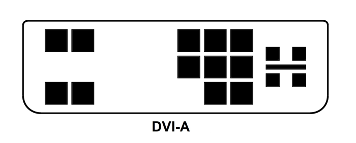 dvi-d (digital video interface - digital): this port only carries digital  signals and hence the name dvi- digital  it has higher number of pins than  dvi-a