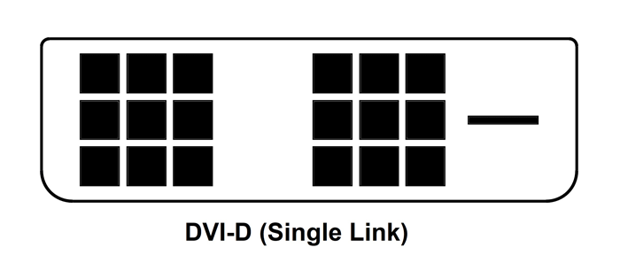 dvi d single link pinout