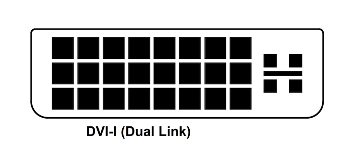dvi i single link connector pinout dvi i dual link pinout