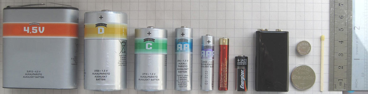 Different Shapes of Battery