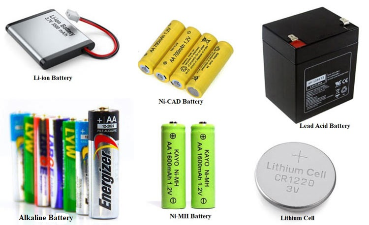 Different types of Battery