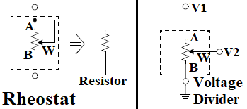 Digital Potentiometer Resistor Configuration