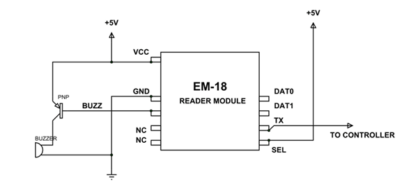 em18 rfid reader module pinout equivalents circuit datasheet rh components101 com rfid reader schematic diagram rfid card reader circuit diagram