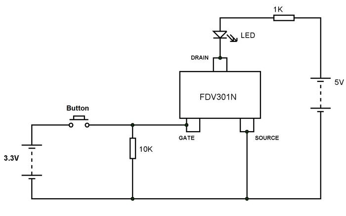 fdv301n mosfet pinout  features  circuit  u0026 datasheet