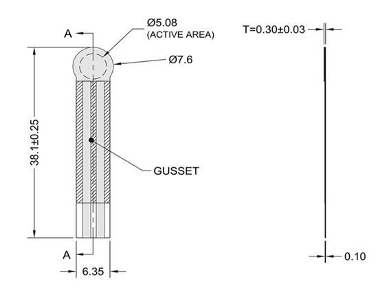 FSR400 Force Sensor Dimensions