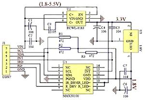 Functional Block Diagram of MAX30100