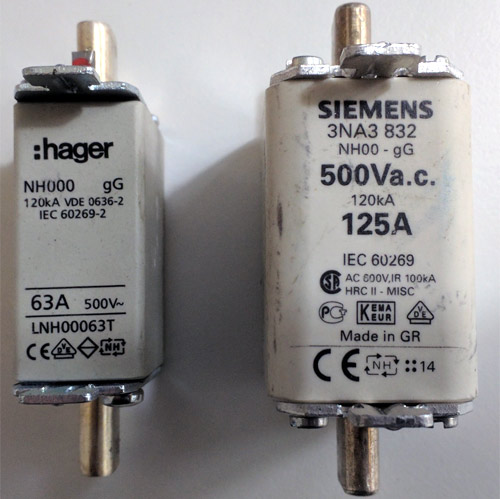 High Rupture Current Fuses