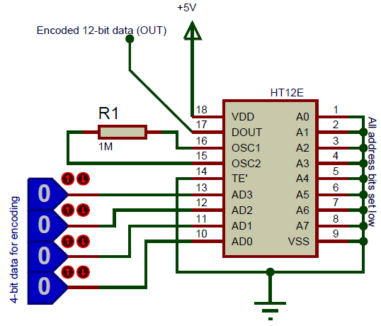 Ht12e Encoder Ic Pin Diagram  Uses  Equivalents  U0026 Datasheet