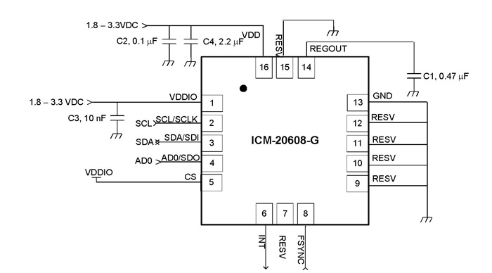 ICM-20608-G Circuit Diagram