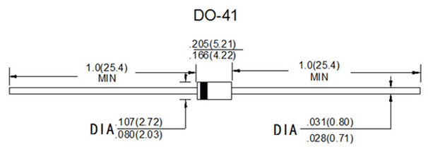 IN5804 Diode 2D Representation