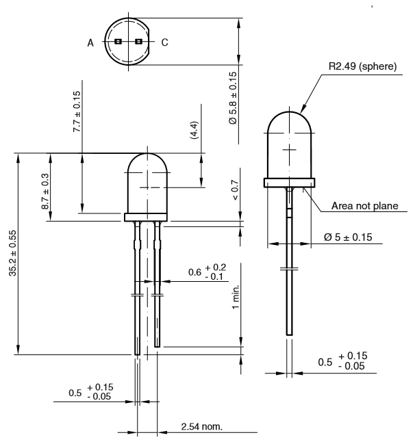 ir led pinout  features  uses  u0026 datasheet