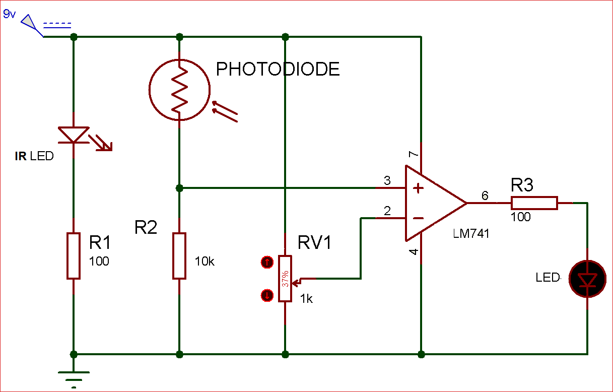 circuit diagram of ir sensor