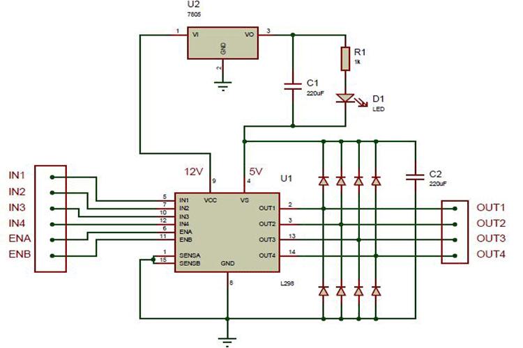l298n motor driver module pinout, datasheet, features & specs  components101
