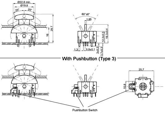 Joystick Module 2D-model