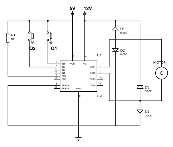 L298 IC Example Circuit