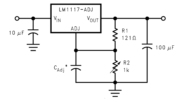 LM1117 Circuit with Noise Filteration