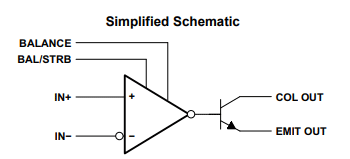 LM311 IC Schematic