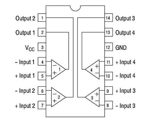 LM339 Internal Connections