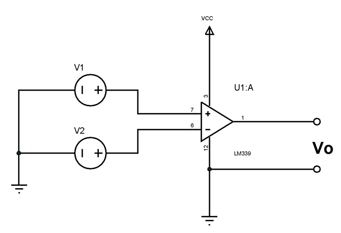 LM339 Voltage Comparator Circuit