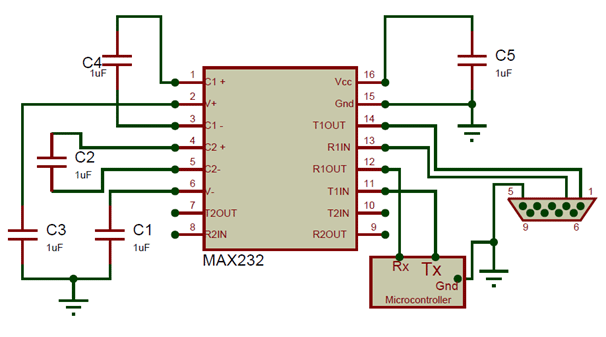 ic max232 pinout pin description features datasheet rh components101 com max232 pin diagram wikipedia max232 pin diagram description