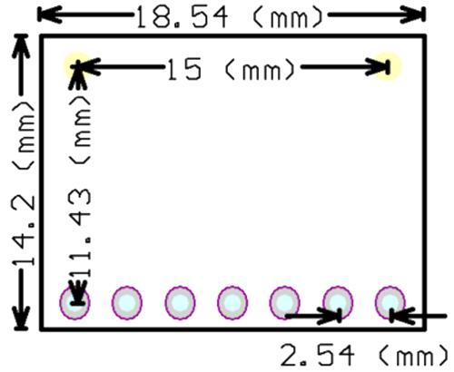 MAX30100 Module Dimensions