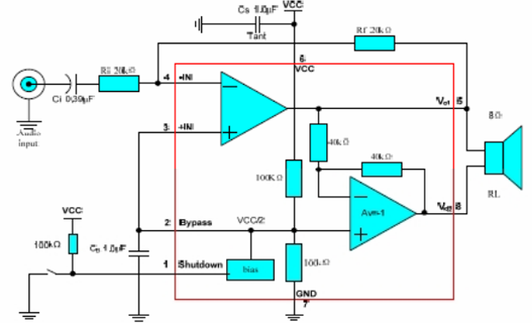 MD8002A Audio Amplifier