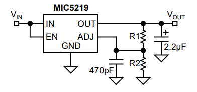 MIC5219 Circuit Diagram