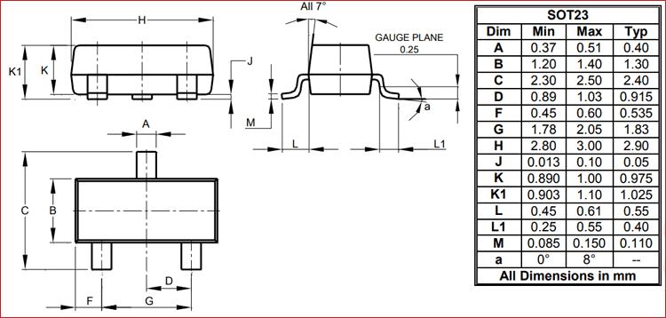 MMBT2222A Transistor 2D-Model