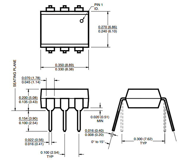 moc3021 triac driven optoisolator pinout  specs