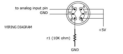 MQ-6 Gas Sensor Wiring Diagram