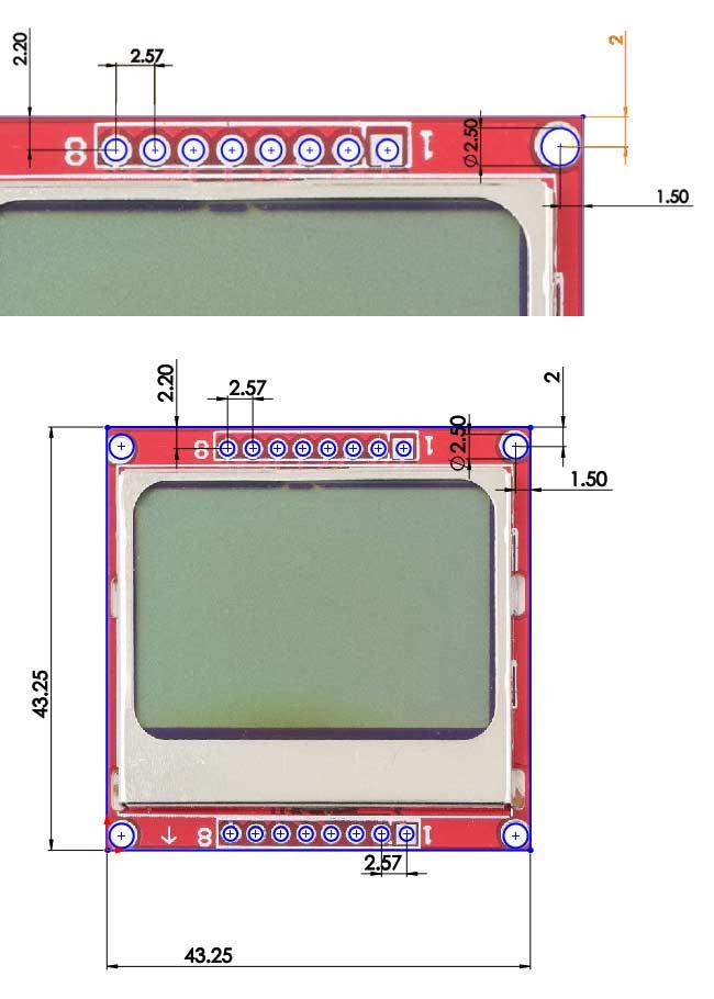 Nokia 5110 LCD 2D model