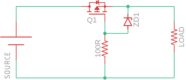 PMOS Reverse Polarity Protection Circuit
