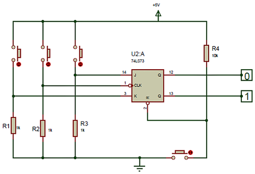 74LS73 Dual JK Flip-Flop - Pinout -Datasheet - working