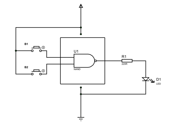 Simple LS7400 Application Circuit