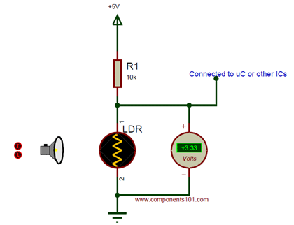 Simple LDR circuit diagram