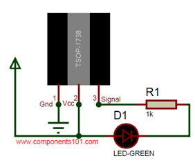 Simple TSOP1738 Circuit Diagram