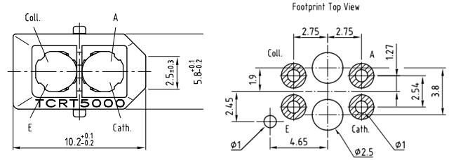 tcrt5000 ir sensor pinout  equivalent  circuit  u0026 datasheet