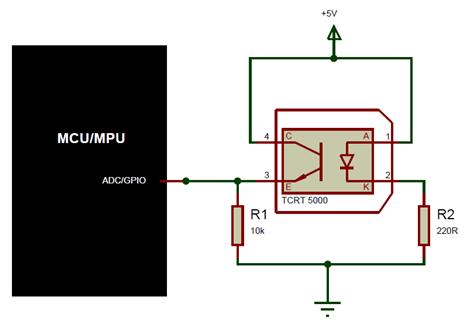 Circuit Diagram Of Ir Sensor | Tcrt5000 Ir Sensor Pinout Equivalent Circuit Datasheet