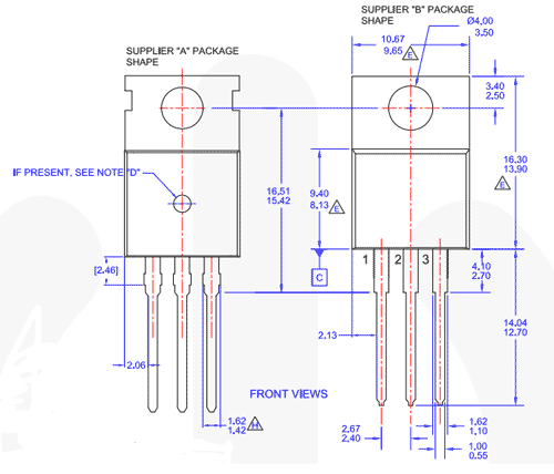 TIP122 Darlington NPN Transistor 2D model