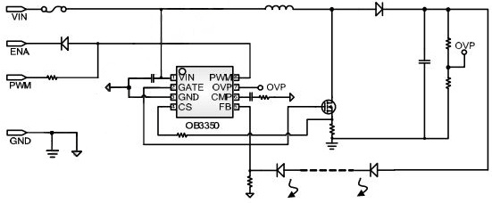 Typical application of OB3350CP