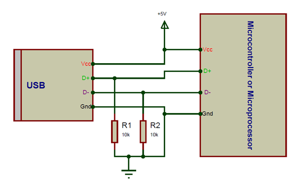 USB-A Jack Circuit Connections
