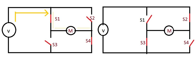 Working Circuit of Motor Driver