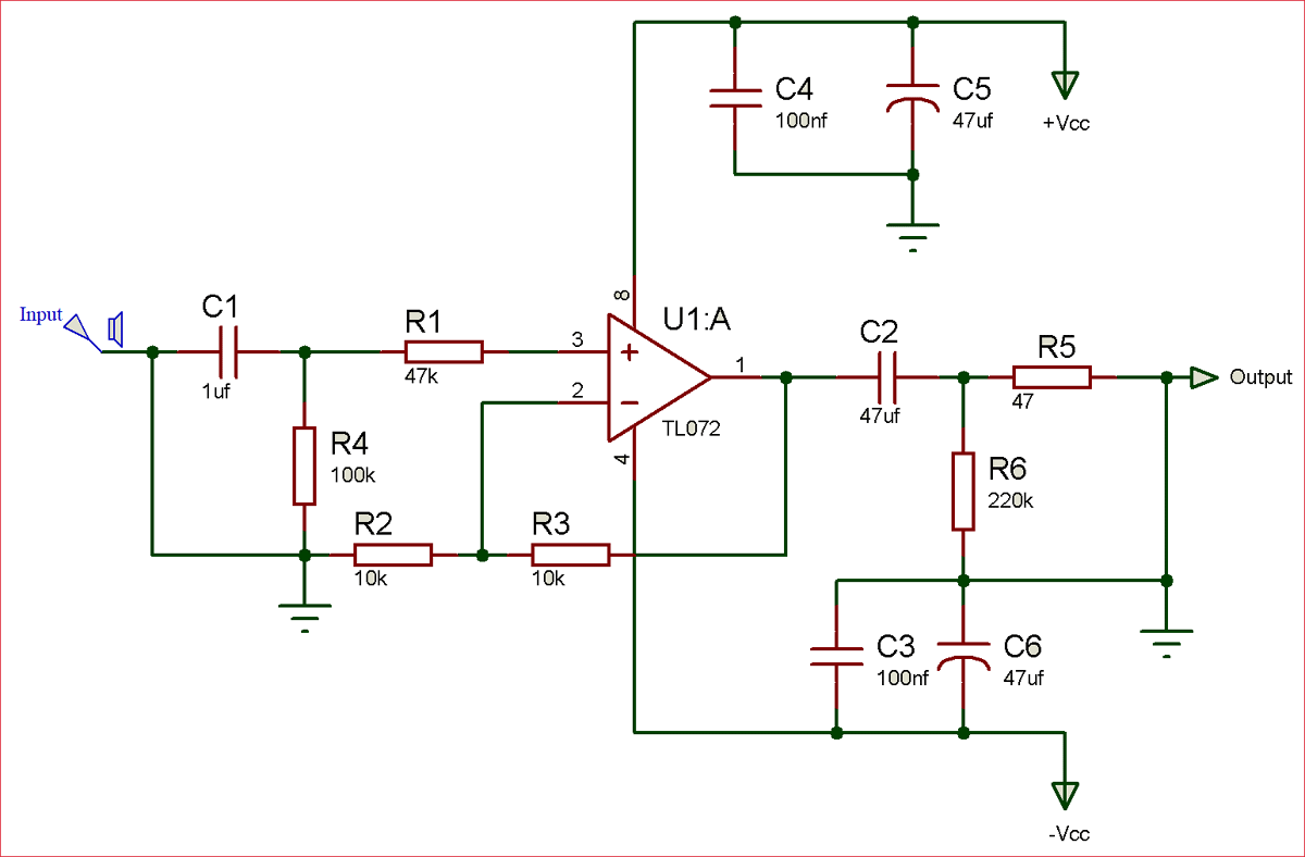 Tl072 Op Amp Ic Pinout Pin Configuration Equivalents Datasheet Low Noise Audio Preamplifier Circuit Diagram Of Pre Amplifier Using