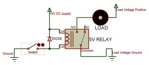 relay working 5v relay pinout, description, working & datasheet